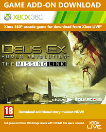 Deus Ex: Human Revolution - The Missing Link Xbox Live Cover Art
