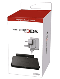 Charging Cradle and AC Adaptor for Nintendo 3DS Accessories