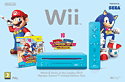 Blue Wii Console with Mario and Sonic at the London 2012 Olympic Games Wii