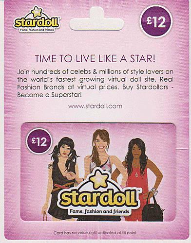 Stardoll Gift Card - £12