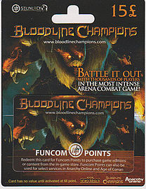 Bloodline Champions Funcom Points Card- £15 Gifts
