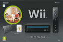 Black Wii Console with Wii Fit Wii