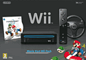 Nintendo Wii Black Console with Mario Kart Wii