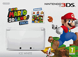 Nintendo 3DS Ice White with Super Mario 3D Land 3DS