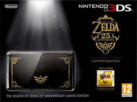 Limited Edition The Legend of Zelda Nintendo 3DS Black & Gold with Legend of Zelda: Ocarina of Time 3D 3DS 