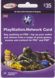 PlayStation Network Card - £35 Gifts