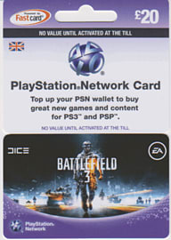 Battlefield 3 PlayStation Network Card - £20 Gifts