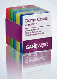 GAMEware Playstation Vita 5 Individual Coloured Game Cases Accessories