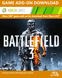 Battlefield 3 Online Pass Xbox Live Cover Art