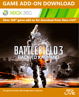 Battlefield 3 Back to Karkand Xbox Live Cover Art