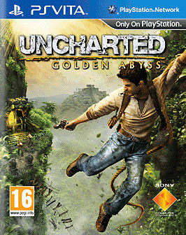 Nathan Drake in your hand in Uncharted: Golden Abyss on PS Vita