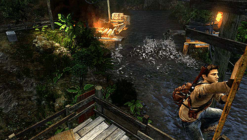 Uncharted: Golden Abyss - Nathan Drake in action on the PS Vita