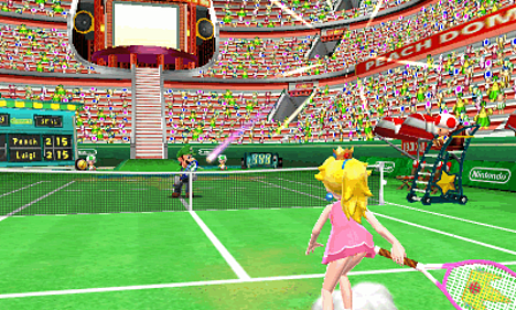 Online, local and download play multiplayer in Mario Tennis Open on 3DS at GAME