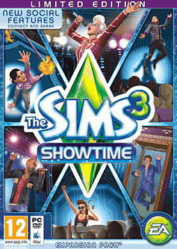 The Sims 3: Showtime Limited Edition PC Games Cover Art