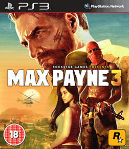 Max Payne 3 with Exclusive Cemetery Multiplayer Map PlayStation 3 Cover Art