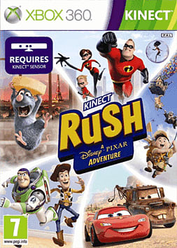 Kinect Rush: A Disney Pixar Adventure Xbox 360 Kinect Cover Art