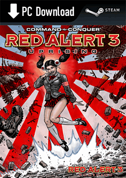Command and Conquer: Red Alert 3 Uprising EP PC Games Cover Art