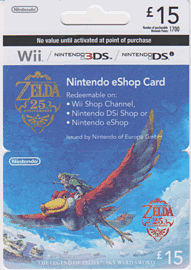 Nintendo Legend of Zelda: Skyward Sword eShop Card - 15 Gifts 