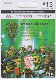 Nintendo Legend of Zelda 25th Anniversary eShop Card - 15 Gifts 