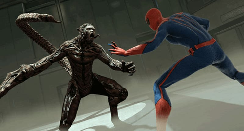 Spidey tackles super-villains likie the Scorpion in the Amzing Spider-Man at GAME