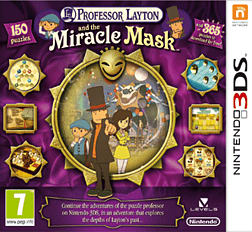 Professor Layton and the Miracle Mask 3DS Cover Art