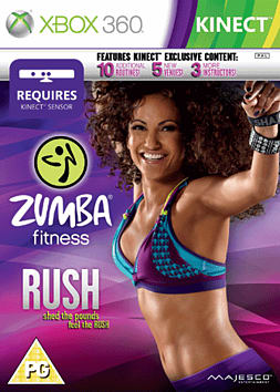 Zumba Fitness Rush Xbox 360 Kinect Cover Art