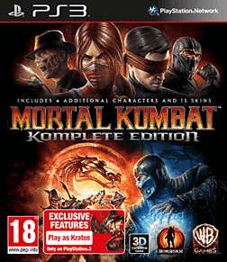 Mortal Kombat Komplete Edition PlayStation 3 Cover Art