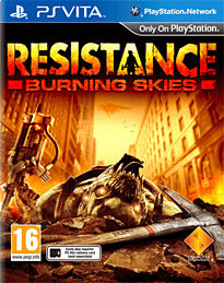 Resistance: Burning Skies PS Vita Cover Art