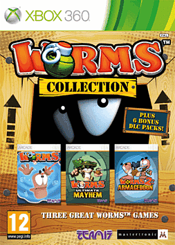 Worms Collection Xbox 360 Cover Art