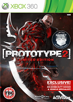 Prototype 2: Exclusive Limited Edition Xbox 360 Cover Art