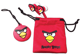 Angry Birds 'Birds Buds' Gamer Set for Nintendo 3DS - Red Accessories