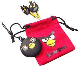 Angry Birds 'Birds Buds' Gamer Set for Nintendo 3DS - Black Accessories