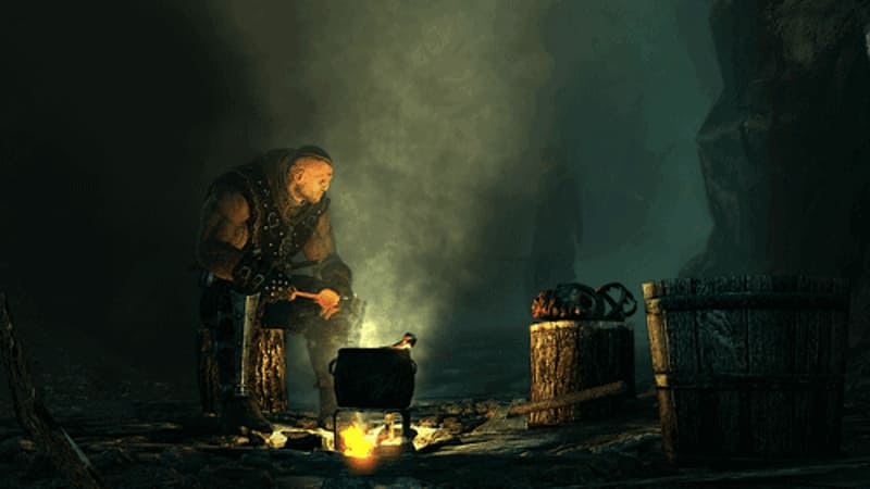 Dark and mature role playing in Witcher 2: Assassins of Kings at GAME