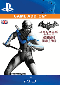 Batman: Arkham City - Nightwing Bundle Pack PlayStation Network Cover Art