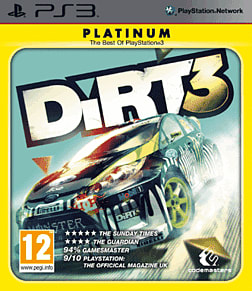DiRT 3 Platinum PlayStation 3 Cover Art
