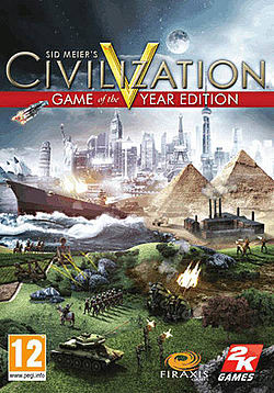 Sid Meier's Civilization V Game of the Year Edition PC Games Cover Art