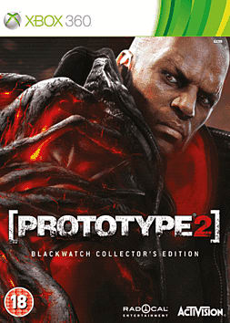Prototype 2 Blackwatch Collector's Edition Xbox 360 Cover Art