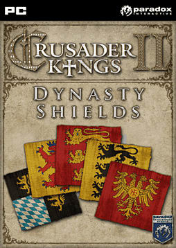Crusader Kings II Dynasty Shield DLC PC Games Cover Art