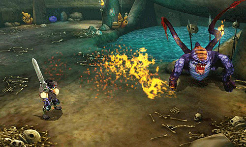 Role playing action in Heroes of Ruin on 3DS XL at GAME