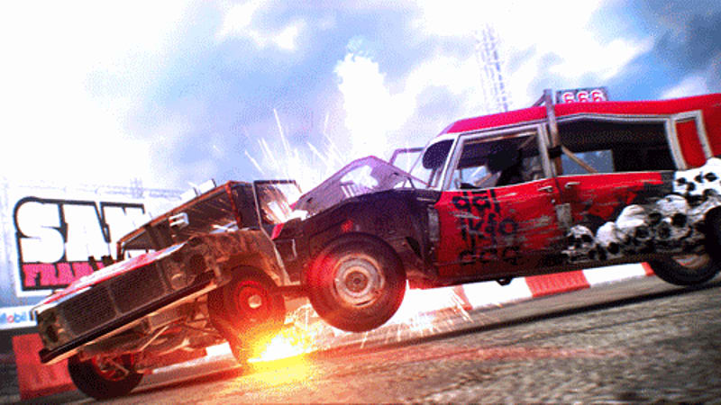 Destruction derby ahoy in DiRT Showdown at GAME