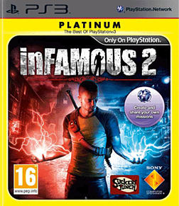 Infamous 2 (Platinum) PlayStation 3 Cover Art