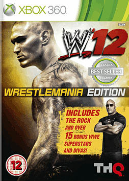 WWE '12 Wrestlemania Edition Xbox 360 Cover Art