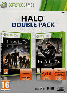 Halo Combat Evolved Anniversary and Halo Reach Double Pack Xbox 360 Cover Art