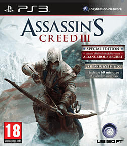 Assassin's Creed III GAME Exclusive Edition PlayStation 3 Cover Art