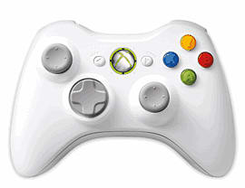 White Xbox 360 Wireless Controller Accessories 