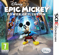 Disney Epic Mickey: The Power of Illusion 3DS Cover Art