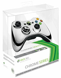 Xbox 360 Wireless Chrome Silver Controller Accessories