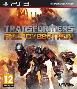 Transformers: Fall of Cybertron PlayStation 3 Cover Art
