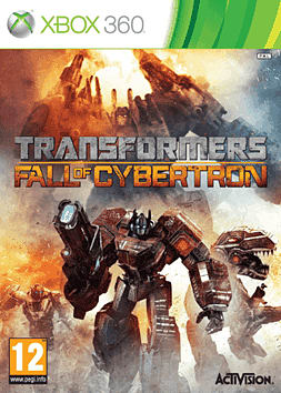 Transformers: Fall of Cybertron Xbox 360 Cover Art