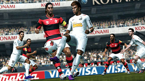 New player control gameplaey in Pro Evo 13 at GAME